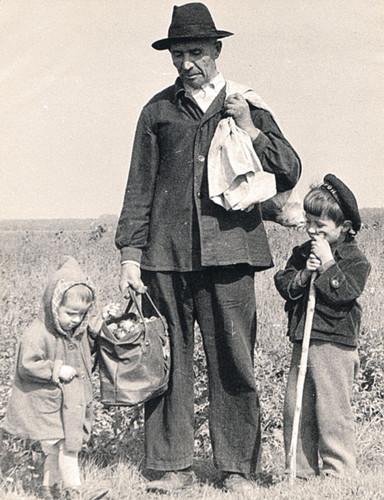 Дед Акрам, Юра и его сестра Наташа.