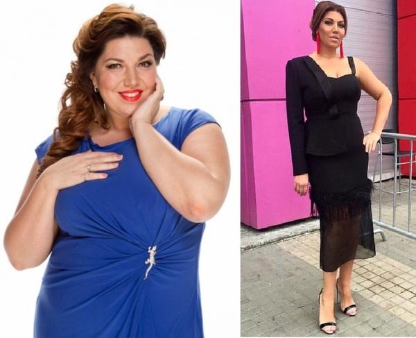 Похудение до и после фото знаменитости
